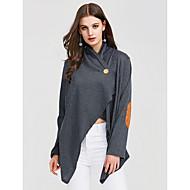 Majica s rukavima Žene Color block V izrez Širok kroj Pamuk Umjetna svila