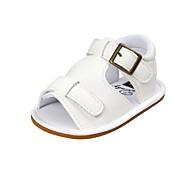 baratos Sapatos de Menino-Para Meninos / Para Meninas Sapatos Courino Verão Conforto / Primeiros Passos / Sapatos de Berço Sandálias Velcro para Bebê Azul / Azul