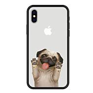 billiga Mobil cases & Skärmskydd-fodral Till Apple iPhone X / iPhone 8 Plus Mönster Skal Hund / Djur / Tecknat Hårt Akrylfiber för iPhone X / iPhone 8 Plus / iPhone 8