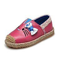 cheap Baby Shoes-Girls' Shoes Leather Spring / Fall First Walkers Loafers & Slip-Ons Bowknot / Gore for Baby / Preschool Peach / Red / Pink