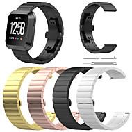 billiga Smart klocka Tillbehör-Klockarmband för Fitbit Versa Fitbit fjäril spänne Rostfritt stål Handledsrem