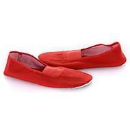 baratos Sapatilhas de Dança-Mulheres Sapatilhas de Balé Lona Sapatilha Sem Salto Personalizável Sapatos de Dança Branco / Vermelho / Interior / Ensaio / Prática