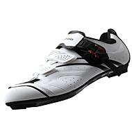 Tiebao® Rennradschuhe Karbon Rutschfest Radsport Schwarz / Weiß Herrn Fahrradschuhe / Atmungsaktive Mesh / Klettverschluss