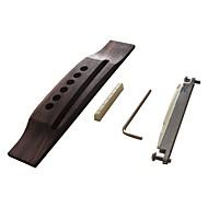 cheap Musical Instruments-Professional Guitar Accessory Bridge Acoustic Guitar Wooden Zinc Alloy Plastic Musical Instrument Accessories 16*3.2*1.2cm