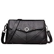 baratos Bolsas de Ombro-Mulheres Bolsas PU Leather Bolsa de Ombro Botões Vermelho / Cinzento / Roxo