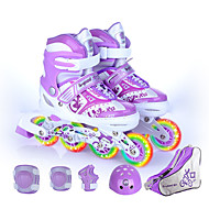 صبيان / فتيات الزلاجات مضمنة للأطفال التنفس إمكانية, يمكن ارتداؤها, قابل للتعديل مرن ABEC-7 - أزرق, وردي بلاشيهغ, أرجواني