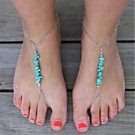 Per donna Turchese Collane per piedi Donne Vintage Cavigliera Gioielli Argento Per Quotidiano Per eventi