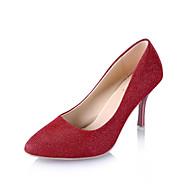 Mujer Zapatos PU Verano D'Orsay y Dos Piezas Tacones Tacón Kitten Dedo Puntiagudo Perla de Imitación Dorado / Negro / Plata / Fiesta y Noche mhHBl5p