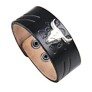 Men's Leather Bracelet - Leather Vintage, Punk, Rock Bracelet Black / Brown For Street / Club