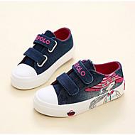 baratos Sapatos de Menina-Para Meninas Sapatos Lona Outono Conforto Tênis para Crianças Azul Escuro / Rosa claro / Azul Claro