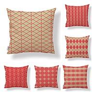 billige Putevar-6 stk Tekstil Bomull/Lin Moderne / Tidsriktig, Polkadotter Art Deco Spesielt design Tradisjonell/vintage Høy kvalitet