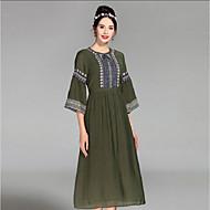 Žene Širok kroj Haljina - Osnovni, Color block Visoki struk