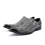 Herre Novelty Shoes Nappalæder Forår / Efterår Oxfords Gang Sølv