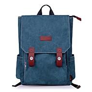 baratos Mochilas-Unisexo Bolsas Tela de pintura mochila Botões Vermelho / Azul Escuro / Marron Escuro