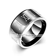 Muškarci Prestenje knuckle ring Crn nehrđajući Circle Shape Ležerne prilike Dnevno Ulica Nakit odjeće