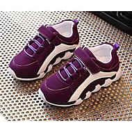 baratos Sapatos de Menino-Para Meninos / Para Meninas Sapatos Couro Ecológico Primavera / Outono Conforto Tênis para Preto / Roxo / Rosa claro