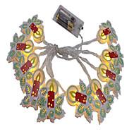 billiga Belysning-Ljusslingor 10 lysdioder 1,5M strängljus Varmvit Dekorativ AA Batterier Drivs