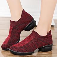 baratos Sapatilhas de Dança-Mulheres Tênis de Dança Tricô Salto / Têni Salto Baixo Personalizável Sapatos de Dança Preto / Cinzento / Vermelho Escuro