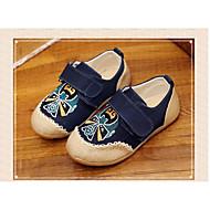 baratos Sapatos de Menina-Para Meninos / Para Meninas Sapatos Linho / Couro Ecológico Primavera Conforto Mocassins e Slip-Ons para Azul Escuro / Vermelho / Amêndoa