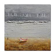 billiga Oljemålningar-Hang målad oljemålning HANDMÅLAD - Abstrakt Landskap Samtida Moderna Duk