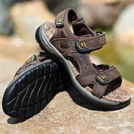 tanie Obuwie męskie-Męskie Buty Nappa Leather Lato Comfort Sandały na Casual Green Light Brown Dark Brown