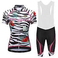 Malciklo Žene Biciklistička majica s kratkim tregericama - Obala Crn Bicikl Bib Shorts Biciklistička majica, Quick dry, Anatomski dizajn,