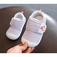 baratos Sapatos de Menino-Para Meninos / Para Meninas Sapatos Tecido Primavera Conforto / Primeiros Passos Rasos para Cinzento / Roxo / Rosa claro