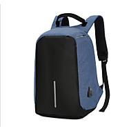 baratos Mochilas-Homens Bolsas Náilon mochila Ziper / Vazados Azul Escuro / Cinzento / Roxo
