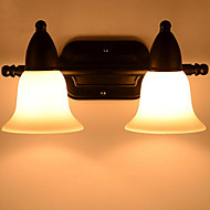 tanie Oświetlenie lustra-Powłoka antyrefleksyjna Vintage Oświetlenie łazienkowe Na Metal Światło ścienne 220-240V 20W