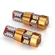 Χαμηλού Κόστους Others-2pcs T10 Αυτοκίνητο Λάμπες 2W 55lm 6 LED Αξεσουάρ For Universal Όλα τα μοντέλα Όλες οι χρονιές