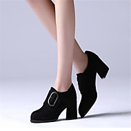 cheap Women's Boots-Women's Shoes Rubber Fall Comfort Boots Low Heel Pointed Toe for Outdoor Black / Almond / Light Brown