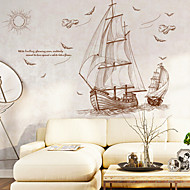 cheap Wall Stickers-Decorative Wall Stickers - Animal Wall Stickers Landscape Nautical Living Room Bedroom Bathroom Kitchen Dining Room Study Room / Office