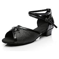 baratos Sapatilhas de Dança-Mulheres Sapatos de Dança Latina Paetês Salto Salto Baixo Personalizável Sapatos de Dança Preto / Interior / Ensaio / Prática
