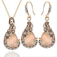 Γυναικεία Οπάλιο Κλασσικό Κοσμήματα Σετ - Παγόνι Μοντέρνα, Κομψό Περιλαμβάνω Νυφικό κόσμημα σετ Χρυσό Για Πάρτι Γενέθλια