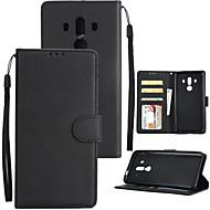 billiga Mobil cases & Skärmskydd-fodral Till Huawei Mate 10 pro / Mate 10 Plånbok / Korthållare / Stötsäker Fodral Enfärgad Hårt PU läder för Mate 10 / Mate 10 pro