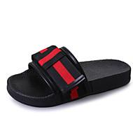Women's Shoes PU Spring Comfort Slippers & Flip-Flops Flat Heel Bowknot for Black Beige