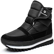 cheap Men's Boots-Men's Shoes Silk Canvas Winter Fall Bootie Snow Boots Boots Skiing Shoes Booties/Ankle Boots Buckle for Casual Outdoor Black