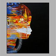 billiga Människomålningar-Hang målad oljemålning HANDMÅLAD - Abstrakt Människor Moderna Duk