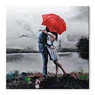 billiga Människomålningar-Hang målad oljemålning HANDMÅLAD - Abstrakt Människor Samtida Moderna Duk