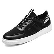 tanie Obuwie męskie-Męskie Buty PU Materiał Wiosna Lato Comfort Tenisówki na Casual White Black