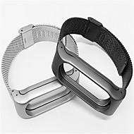 billiga Smart klocka Tillbehör-Klockarmband för Mi Band 2 Xiaomi Milanesisk loop Rostfritt stål Handledsrem