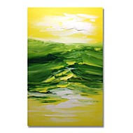 billiga Landskapsmålningar-Hang målad oljemålning HANDMÅLAD - Abstrakt Landskap Samtida Moderna Duk