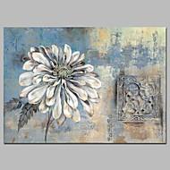billiga Blom-/växtmålningar-Hang målad oljemålning HANDMÅLAD - Abstrakt / Blommig / Botanisk Vintage Duk