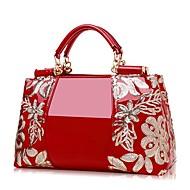cheap Totes-Women's Bags PU(Polyurethane) Tote Zipper Black / Red / Wine