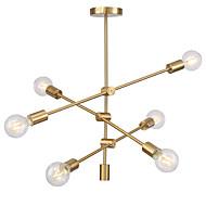billiga Belysning-moderna elektropläterade hänglampor med 6-lampor infästning montera vardagsrum matsal sovrum ljuskrona