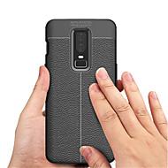 billiga Mobil cases & Skärmskydd-fodral Till OnePlus OnePlus 6 / OnePlus 5T Läderplastik Skal Enfärgad Mjukt TPU för OnePlus 6 / One Plus 5 / OnePlus 5T