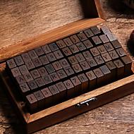 billige Kontor Nødvendigheter-Tre / Bambus Mørkebrun 1 / boks Stempelblokker 15*8.5*5cm