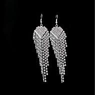 Dames Kristal Druppel oorbellen - Tupsu Sieraden Zilver Voor Bruiloft Feest