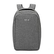 Unisex Bags Cotton / Polyester / Terylene Backpack Zipper Black / Red / Gray