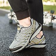 baratos Sapatos Masculinos-Homens Tule / Couro Ecológico Verão / Outono Conforto Tênis Corrida / Aventura / Ciclismo Estampa Colorida Preto / Amarelo / Azul / Caminhada
